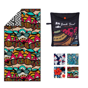 factory stock design sand free microifber beach towel portable