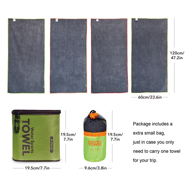 Microfiber water sport towel for outdoor OEM factory