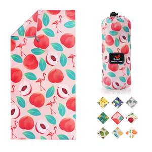 OEM Factory Custom Design Fruits Pattern Heat Transfer Printed Microfiber Beach Towel