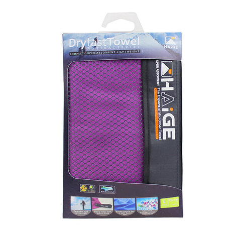 Microfiber Suede sports Towel With PP Case
